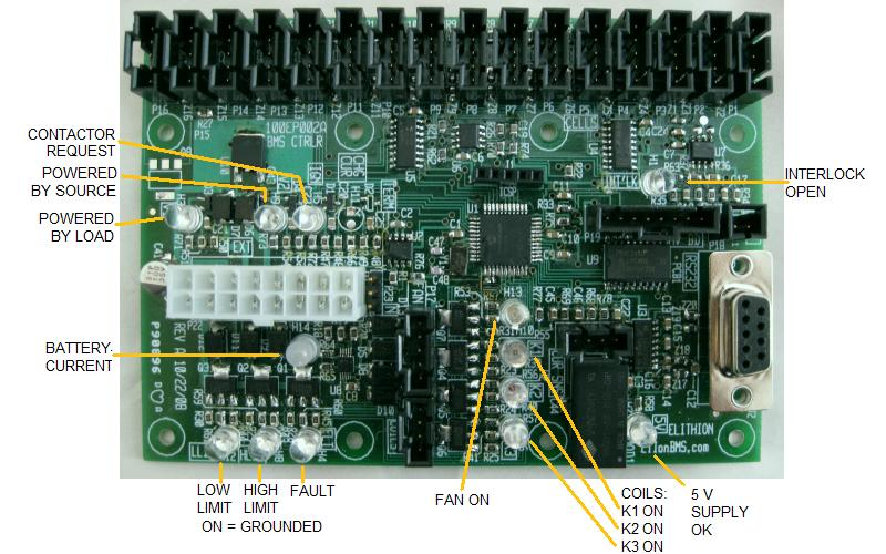 Board level BMS controller, LED functions