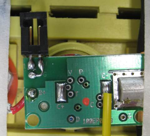 Connector on cell board